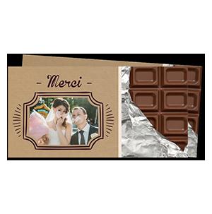Remerciements mariage tablette de chocolat