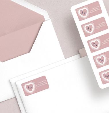 Stickers pour enveloppes mariage